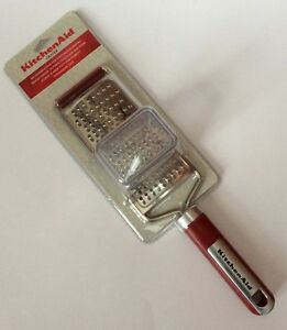 Red Kitchenaid Fine Grater For Ginger Nutmeg Chocolate Cheese & More Handheld