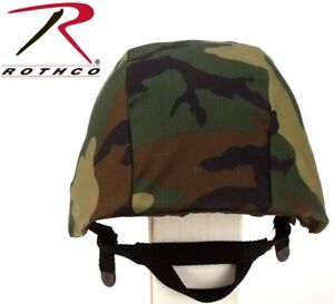 Woodland Camo Military Kev Helmet Cover PASGT, M88 Combat Tactical Rothco 9355