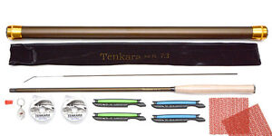 Tenkara 12ft 3.6m rod with Line Winder Furled Tapered leader spare tip T3673 A