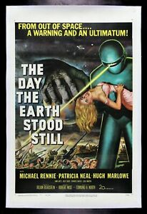 THE DAY THE EARTH STOOD STILL * CineMasterpieces ORIGINAL MOVIE POSTER 1951