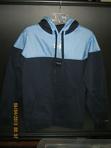 NWT Mens Long Sleeve Solid Navy Under Armour STORM Hoodie Polyester amp; Cotton S $55.00
