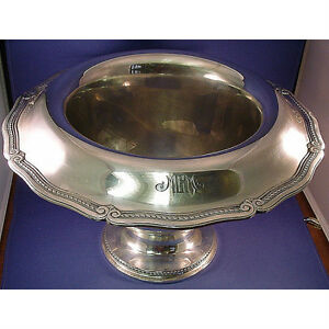 TIFFANY & CO STERLING LARGE CENTER  PUNCH BOWL