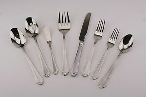 Hampton Silversmiths Lauren Frosted 18/10 Stainless Flatware Your Choice