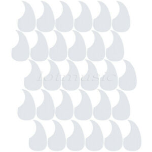 30 White Acoustic Guitar Pickguards Scratch Plates Self Stick Comma Shaped Shell