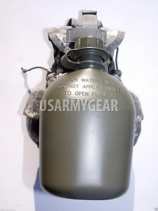 NEW Made in USA Military Army 1 QT 1 L Plastic OD Green Canteen USGI $7.11