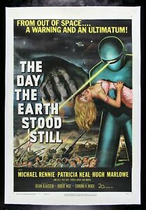 THE DAY THE EARTH STOOD STILL ✯ CineMasterpieces ORIGINAL MOVIE POSTER 1951
