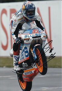 Scott Redding Hand Signed Blusens Aprilia Racing 12x8 Photo 125cc MotoGP .