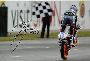 Scott Redding Hand Signed Blusens Aprilia Racing 12x8 Photo 125cc MotoGP.