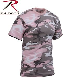 Subdued Pink Camouflage Tactical Military Short Sleeve Army Camo T Shirt 8681