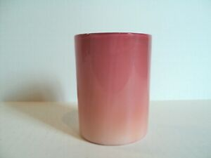 19th C. WEBB ANTIQUE GLOSSY PEACHBLOW CASED ART GLASS TUMBLER c.1880's