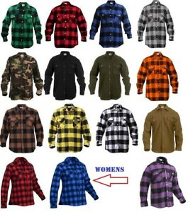 Rothco Flannel Shirts Heavyweight Brawny Buffalo Plaid Flannel Shirt Men