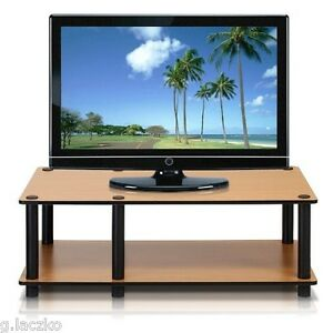 Tv Stand Entertainment Center Media Storage Furniture Console Flat Cabinet Light