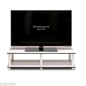 Tv Stand Entertainment Center Media Storage Furniture Console Flat Cabinet White