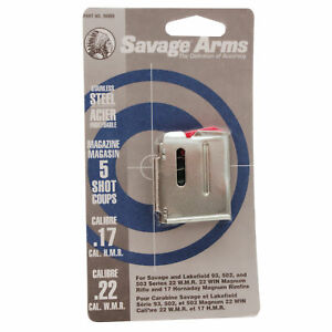 Savage Arms Magazine For 93502503 Series-22WMR17HMR-5 Round Mag-90009