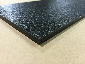 ABS Black Plastic 1 8quot; x 12quot; x 12quot; .125quot; textured 1 side stereo sheet $7.29