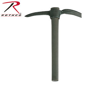 Od Green Military Style Pick Mattock w/Wood Handle Survival Camping Rothco 76