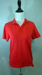NIKE [AUTHENTIC] NIKEGOLF Women's Polo Golf Shirt DRI-FIT Red (3 Buttons) [L]