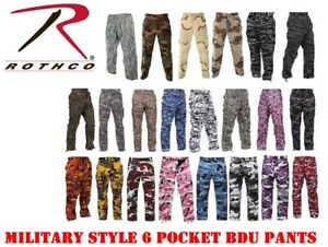 Rothco Camouflage Digital 6 Pocket Military Tactical BDU Cargo Fatigue Pants $37.99