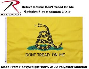 Deluxe Embroidered Dont Tread On Me Double Stitched 3' x 5' Grommets Flag 1566