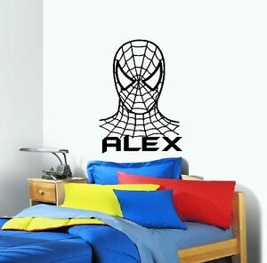 Spiderman with Custom Name Wall Decal: TV Movies amp; Music