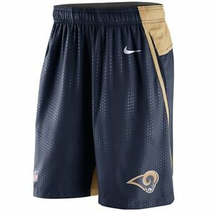 St. Louis Rams MENS Shorts DRI-FIT Performance Speed Fly 3.0 by Nike