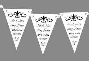 Regal Or White Personalised Engagement Party Bunting