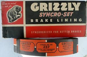 1937 to 1948 Nash Lafayette Set Of 8 Grizzly Brake Linnings 237 $40.96