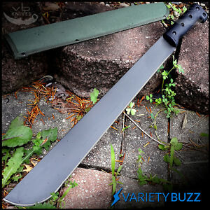 23 SURVIVAL JUNGLE HUNTING MACHETE KNIFE w SHEATH Military Fixed Blade Sword