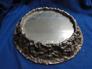 SILVER PLATED WEDDING CAKE STAND ANTIQUE VICTORIAN LARGE SIZE MARKED CAST