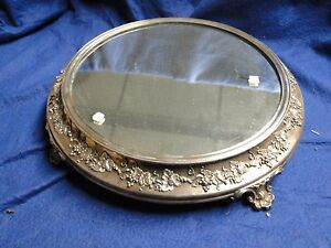 SILVER PLATED WEDDING CAKE STAND ANTIQUE VICTORIAN 1880 GRAPE & VINE BORDER