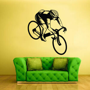 Wall Vinyl Sticker Bedroom Decal Bike Sport Bicycle Cycle (Z1959)