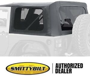 REPLACEMENT BLACK SOFT TOP TINTED WINDOWS 9075235 10-18 FOR JEEP WRANGLER JK 2 D