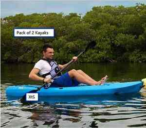 2 PK Fishing Kayak Outdoor Sporting Goods Camping Water Accessory Recreation 8FT