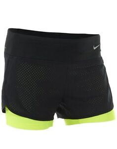 Nike Women's Dri-Fit Perforated Rival 2 In 1 Running Shorts
