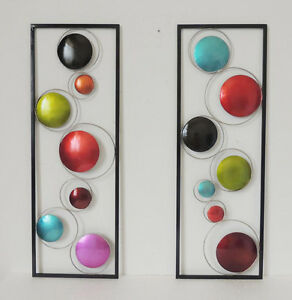 GEOMETRIC CIRCLES METAL WALL SCULPTURES FOR HOME amp; OFFICE MODERN WALL DECOR $66.48
