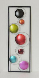 GEOMETRIC CIRCLES METAL WALL SCULPTURES FOR HOME amp; OFFICE MODERN WALL DECOR $36.00