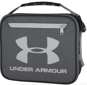 Under Armour Lunch Bag Cooler Kid Insulated Lunchbox Match School Backpack Gray