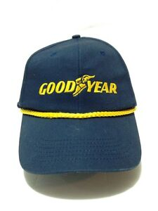 Vintage Goodyear Snapback HAT WITH Yellow LETTERING Trucker Baseball Cap