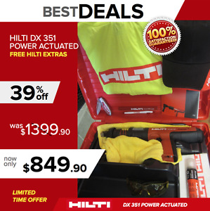 HILTI DX 351 MX 32 POWER ACTUATED TOOL, NEW, DURABLE, FREE EXTRAS, FAST SHIP