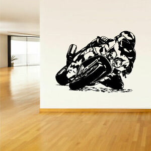 Wall Decal Vinyl Sticker Moto Motorcycle Dirt Bike Gp Kids Sport Gaming Z1454
