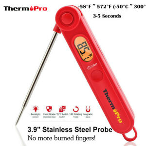 ThermoPro Instant Read Meat Thermometer Digital LCD Cooking BBQ Food Thermometer