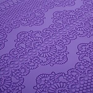 Lrge Silicone Lace Mat Mold for Edible Sugarcraft Lace Embossed Cake Fondant