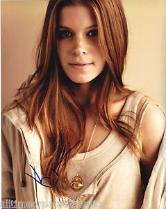 SEXY ACTRESS KATE MARA SIGNED 'HOUSE OF CARDS' 8X10 PHOTO C wCOA THE MARTIAN
