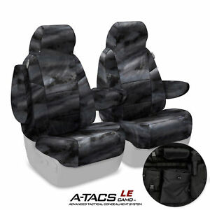 Coverking A-TACS Law Enforcement Camo Tactical Seat Covers for Tundra Truck