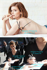 *TOPLESS* Kate Mara Signed Autographed 8x10 Photo EXACT Proof COA Martian