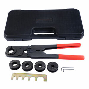 5 in1 Pex Crimper Kit Copper Ring Crimping Plumbing Tool 38
