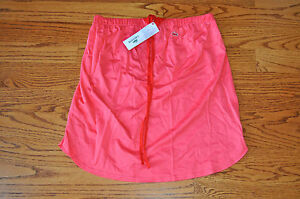 AUTHENTIC LACOSTE WOMENS CORAL PINK TUBE  HALTER TOP 36 EURO 4 US NWT