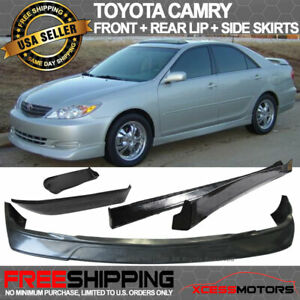 Fits 02-03 Toyota Camry PU VIP Front Rear Bumper Lip Side Skirts Bodykit