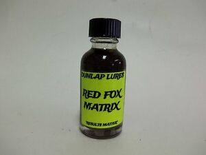 Dunlap#x27;s quot;Red Fox Matrixquot; Lure 1 Oz Traps Trapping Bait Coyote Nuisance Control