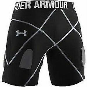 Under Armour Mens Core Shorts Pro Hockey Compression Shorts 1222418 S M